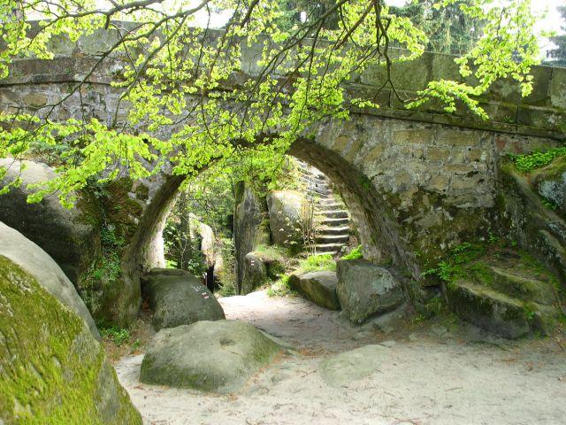 Zdjęcia: Broumovskie Steny, pod mostkiem, CZECHY