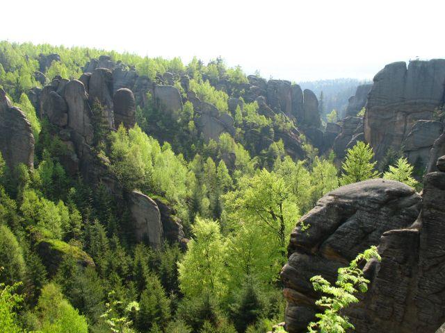 Zdjęcia: Broumovskie Steny, wśród skał c.d., CZECHY