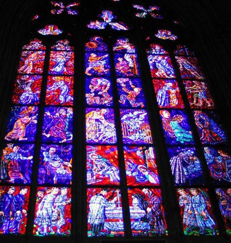 Zdjęcia: Praga, Witraże w katedrze św. Wita, CZECHY