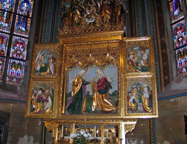 Zdjęcia: Praga, Ołtarz w katedrze św.Wita, CZECHY