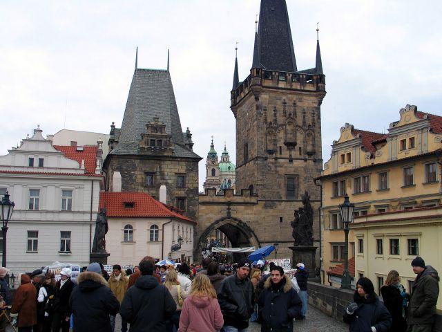 Zdjęcia: Praga, Malostrańskie wieże, CZECHY