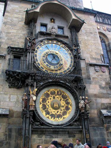 Zdj�cia: Praga, Orloj -zegar ratuszowy, CZECHY