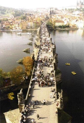 Zdjęcia: Most Karola, Praha, Widok na Wieżę Mostową Starego Miasta, CZECHY