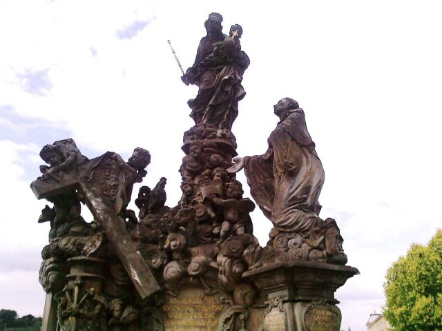 Zdjęcia: Praga, Święci na moście, CZECHY