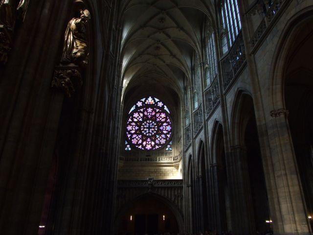 Zdjęcia: Katedra św. Wita - Praga, widok na rozetę, CZECHY