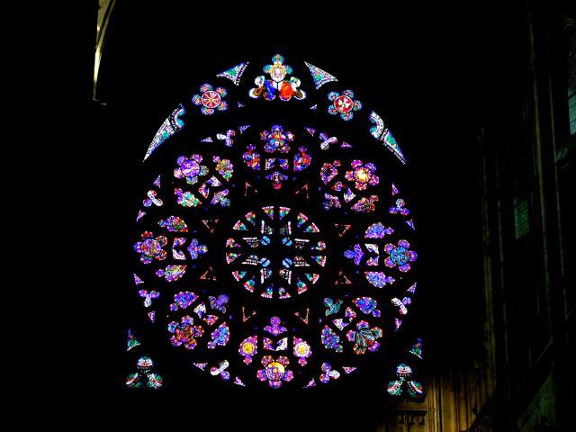 Zdjęcia: Katedra św. Wita - Praga, rozeta, CZECHY