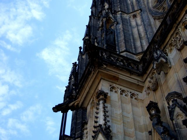 Zdjęcia: Katedra św. Wita - Praga, maszkarony, CZECHY