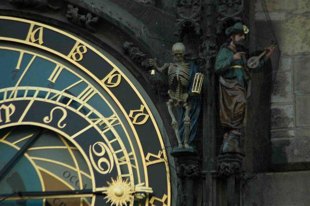 Zdj�cia: praga, Orloj- zegar ratuszowy, CZECHY