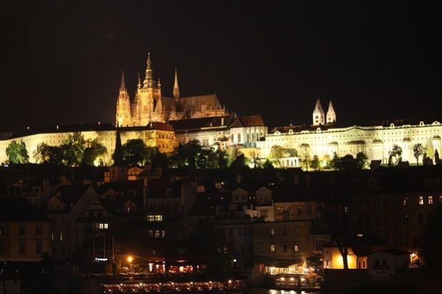 Zdjęcia: Praga, Hradczany nocą, CZECHY