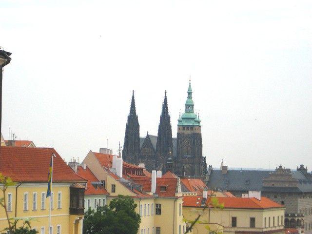 Zdjęcia: Praga, Czechy Środkowe, wieże katedry św. Wita w Pradze, CZECHY