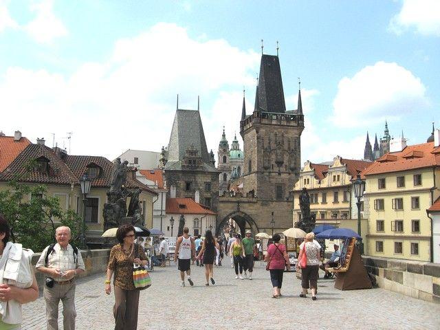 Zdjęcia: Praga, Czechy Środkowe, Wieża Mostowa z Mostu Karola, CZECHY