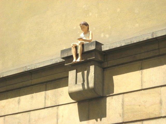 Zdjęcia: Praga, Czechy Środkowe, ozdoba kamienicy w Pradze, CZECHY