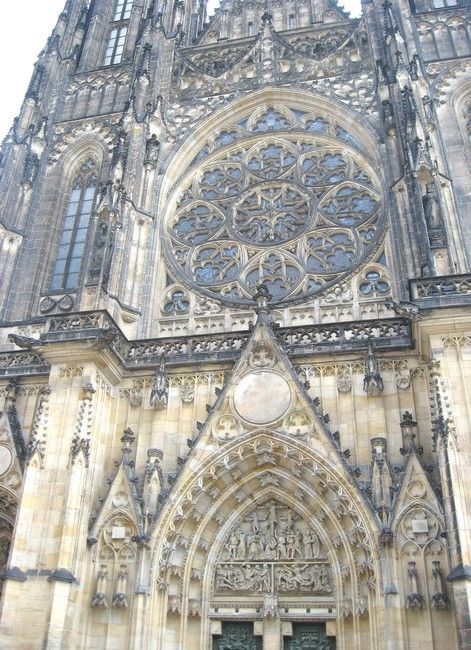 Zdjęcia: Praga, Czechy Środkowe, rozety katedry św Wita, CZECHY