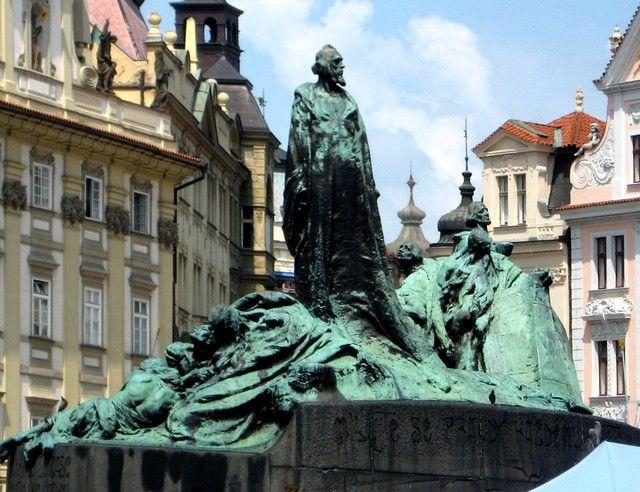 Zdjęcia: Praga, Czechy Środkowe, Pomnik Jana  Husa, CZECHY