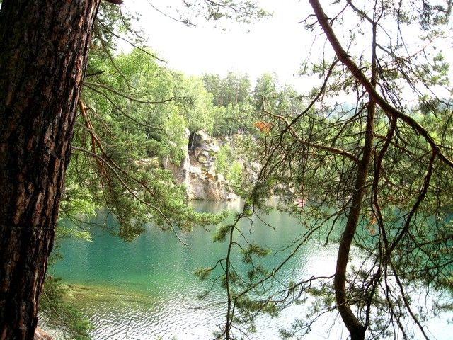 Zdjęcia: Adrspach, Hradecki Kraj, jezioro wśród skał, CZECHY