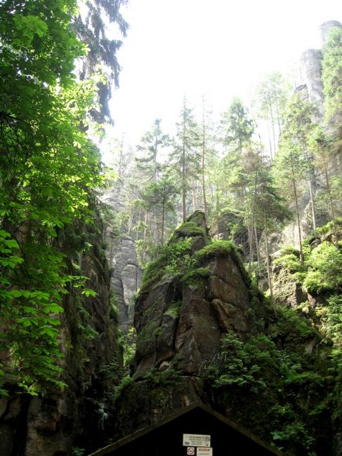 Zdjęcia: Adrspach, Kralowo-Hradecki Kraj, domek skalny?, CZECHY