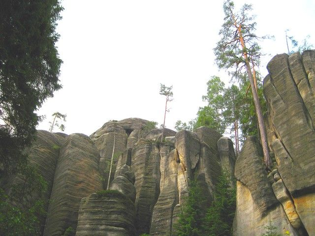 Zdjęcia: Adrspach, kralowo-hradecki kraj, krajobraz skalnego miasta, CZECHY