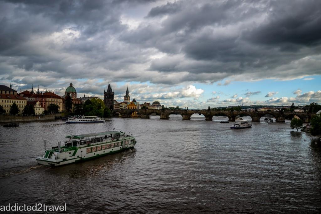 Zdjęcia: Praga, Praga, Widok z mostu , CZECHY