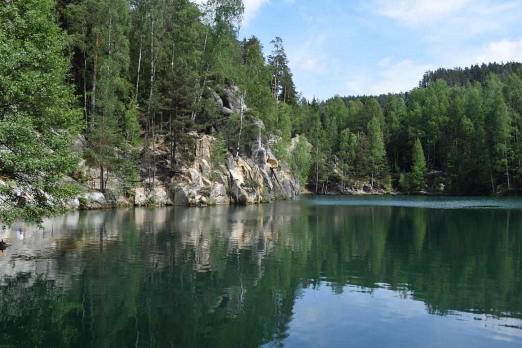 Zdjęcia: Adrszpaskie skały, Sudety, Turkusowe jeziorko, CZECHY