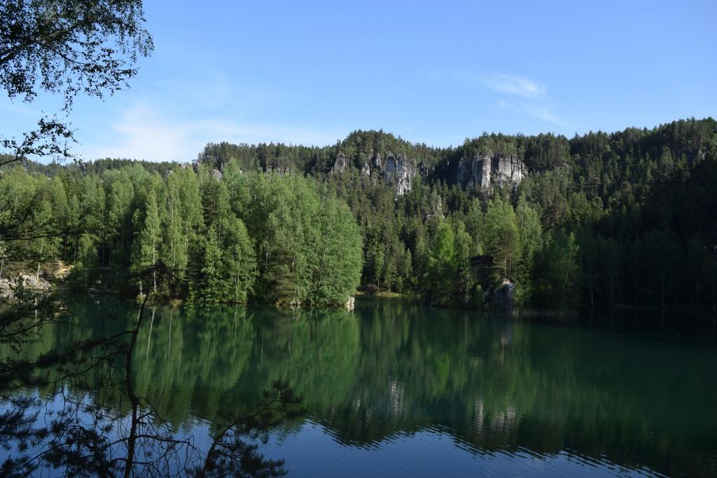 Zdjęcia: Adrspach, Sudety, Turkusowe jeziorko, CZECHY
