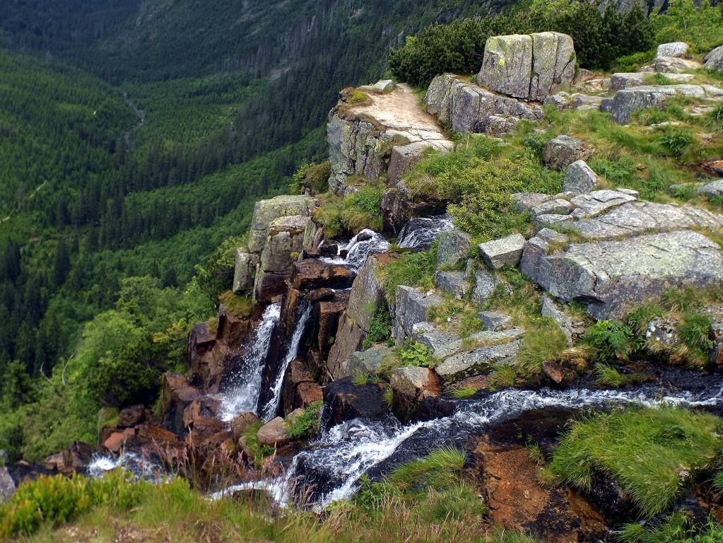 Zdjęcia: Dolina Łaby, Karkonosze, Wodospad Panczawski, CZECHY