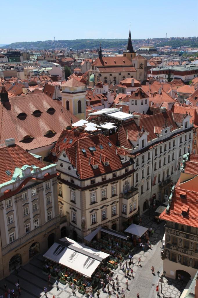 Zdjęcia: Rynek Staromiejski, Praga, Widok z ratusza, CZECHY