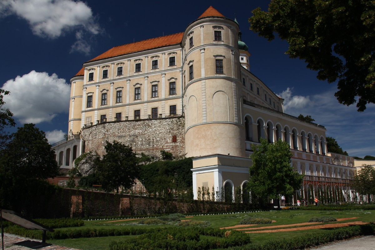 Zdjęcia: Mikulov, Południowe Czechy, Wizytówka zamku, CZECHY