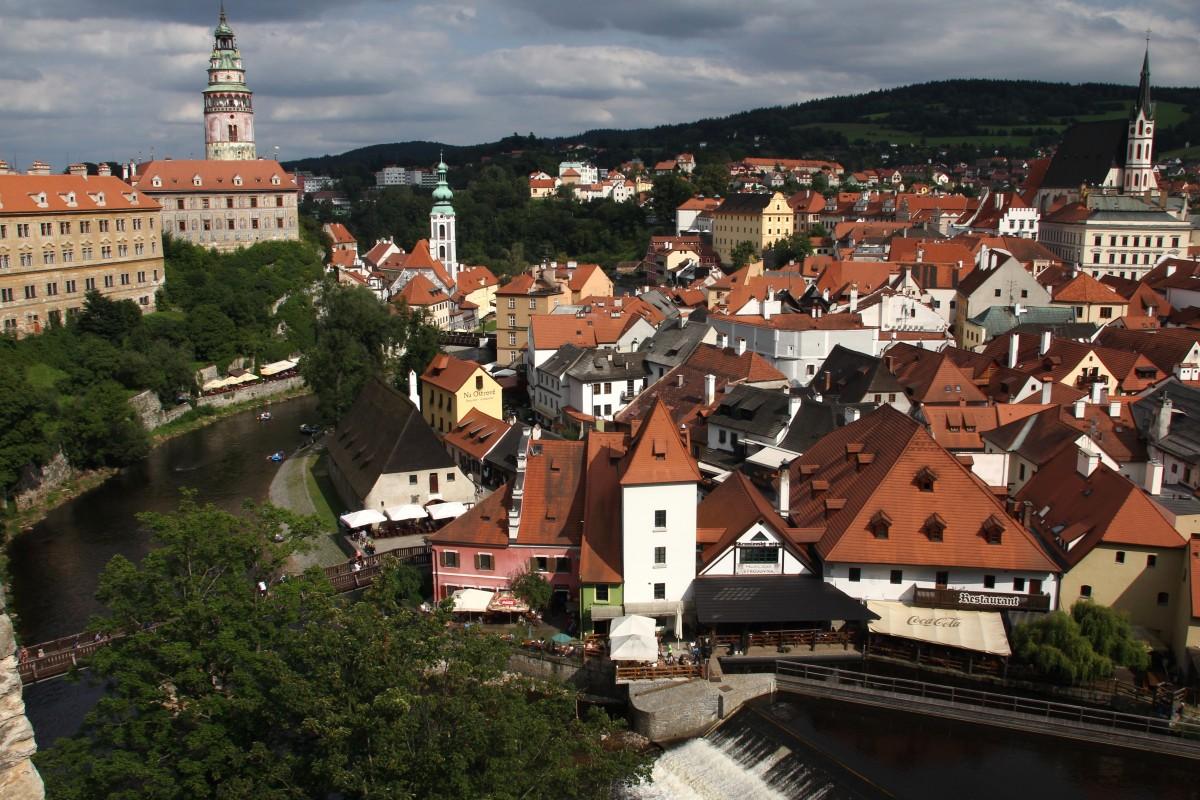 Zdjęcia: Czeski Krumlov, Południowe Czechy, Najpiękniejsze czeskie miasto, CZECHY