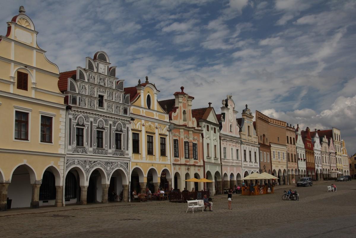 Zdjęcia: Telcz, Południowe Czechy, Najdłuższy rynek Europy, CZECHY