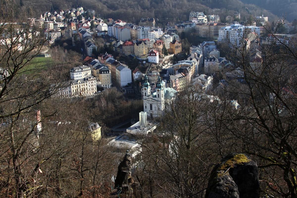 """Zdjęcia: Karlove Vary, Zachodnie Czechy, Widok z """"lotu ptaka"""", CZECHY"""