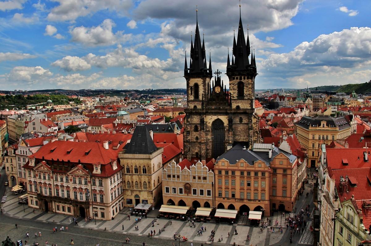 Zdjęcia: Rynek Staromiejski, Praga, Kościół Matki Bożej przed Tynem, CZECHY