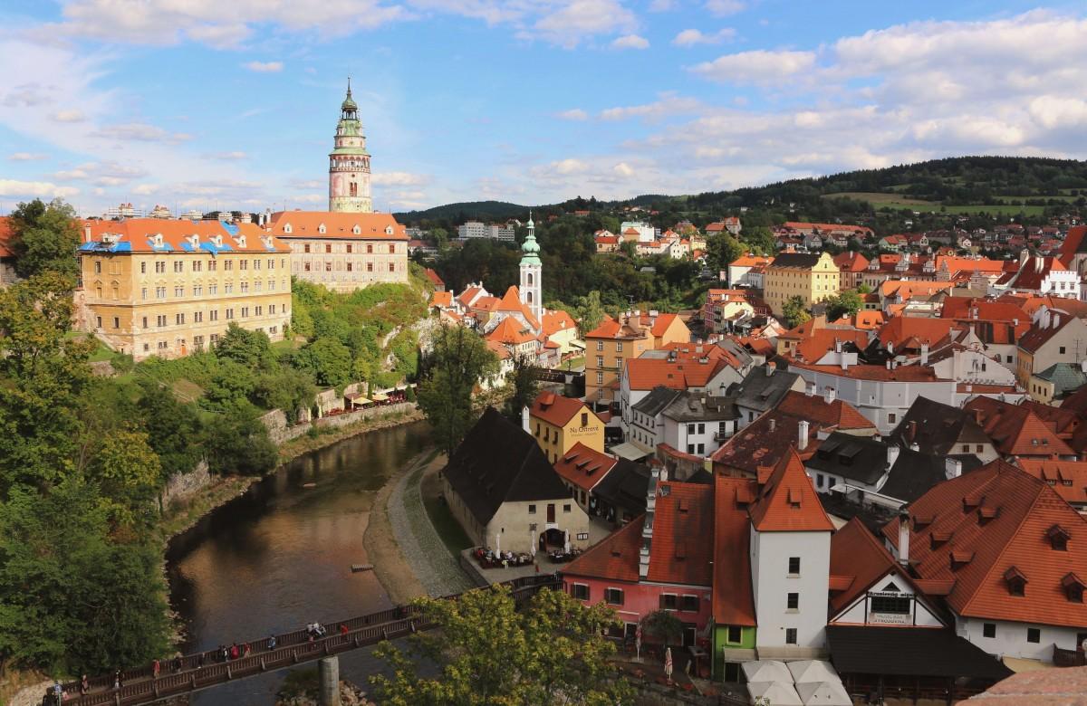 Zdjęcia: Ceski Krumlov,  kraj południowoczeski, widok z zamku, CZECHY