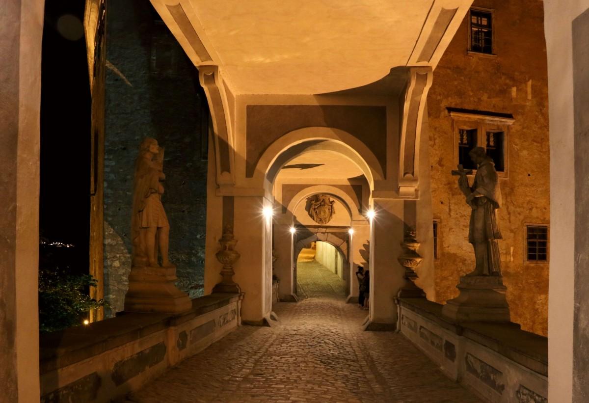 Zdjęcia: Ceski Krumlov,  kraj południowoczeski, zamek nocą, CZECHY