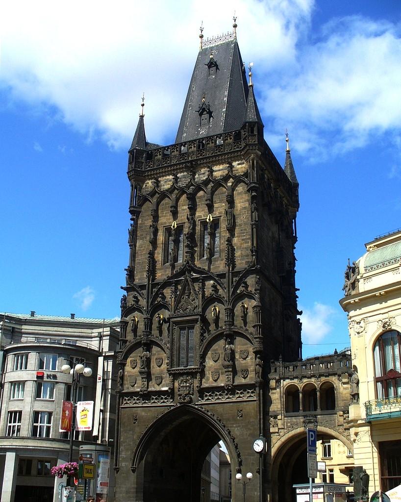 Zdjęcia: Praga, Kraj środkowo czeski, Budynek bramny, na most Karola, CZECHY