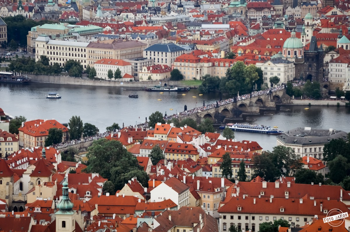 Zdjęcia: Petrin, Praga, Widok z Wieży Petrińskiej, CZECHY