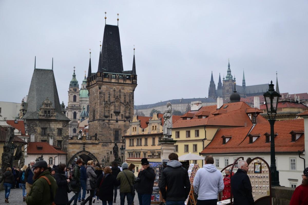 Zdjęcia: Praga, Kraj środkowoczeski, Na moście, CZECHY
