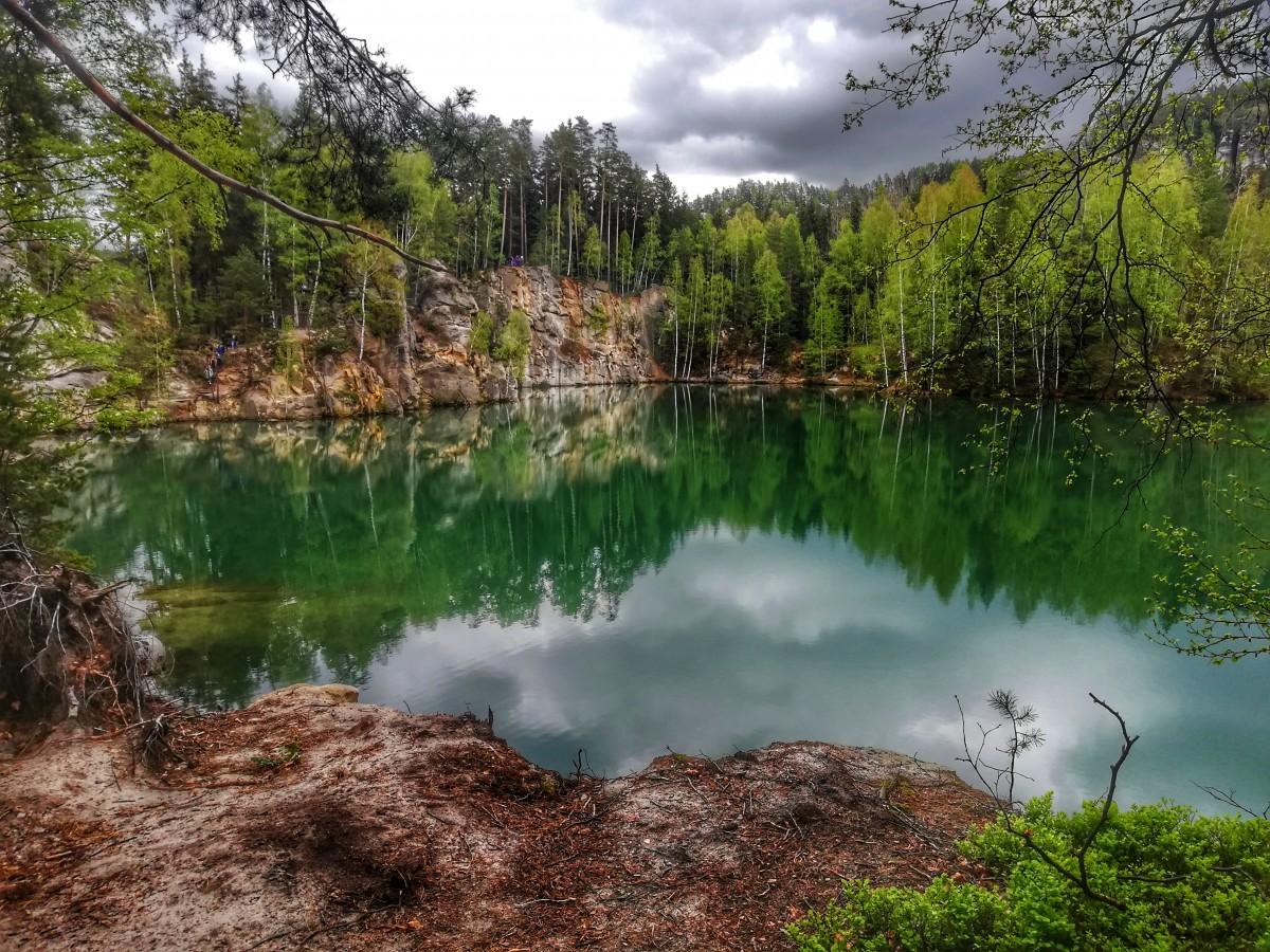 Zdjęcia: Adrspach, Kraj Hradecki, Lazurowe jeziorko, CZECHY