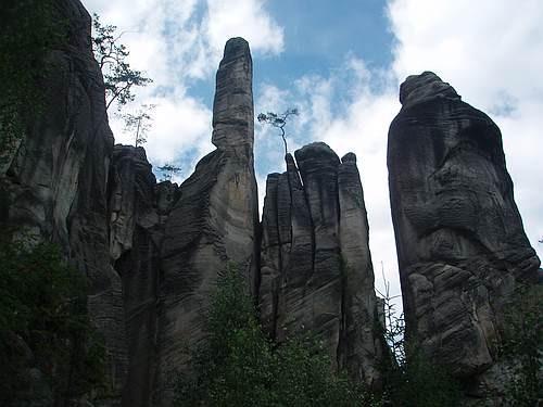 Zdjęcia: Adrspach, Góry Stołowe Sudety, Skalne miasto, CZECHY
