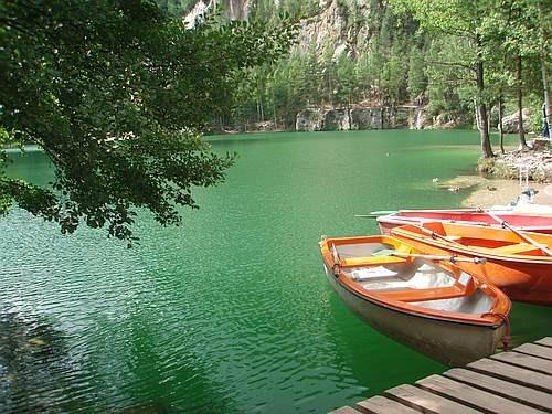 Zdjęcia: Adrspach, Góry Stołowe Sudety, Jezioro w Skalnym mieście, CZECHY