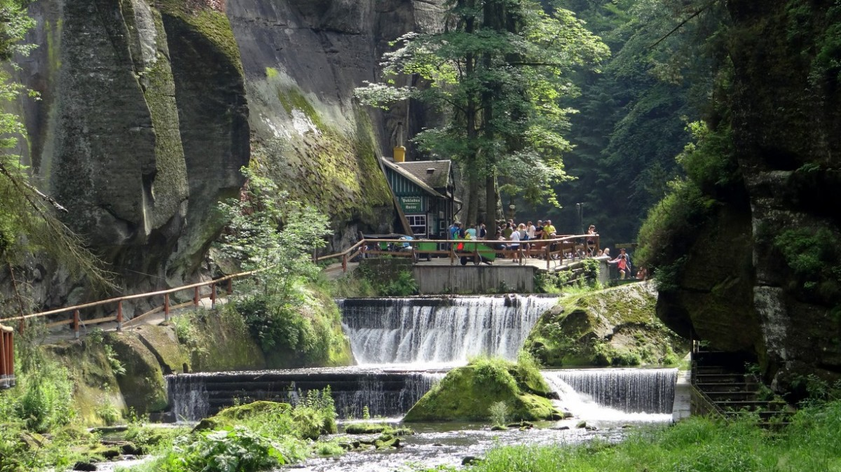Zdjęcia: Czeska Szwajcaria, Ustecky kraj, Przejście do Narnii, CZECHY