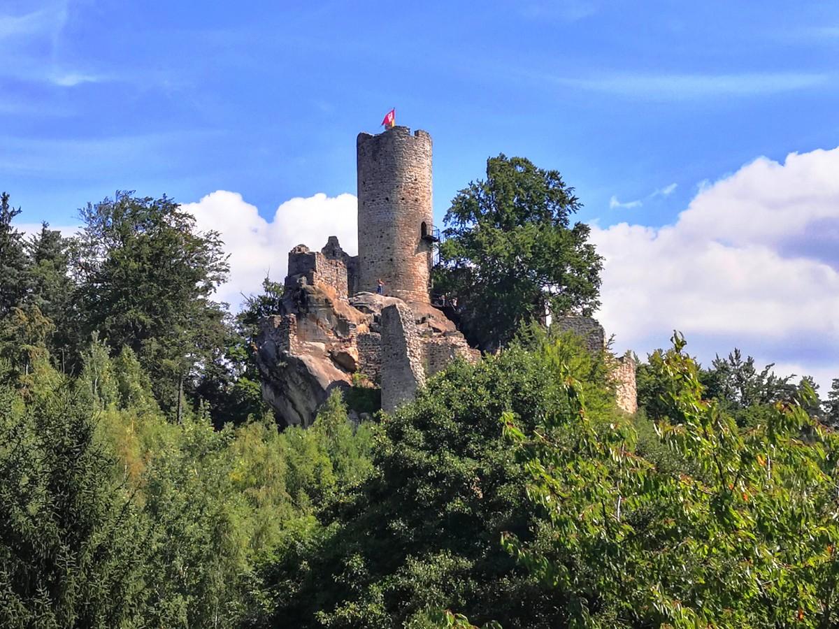 Zdjęcia: Frydstejn, Kraj Liberadzki, W koronach drzew, CZECHY