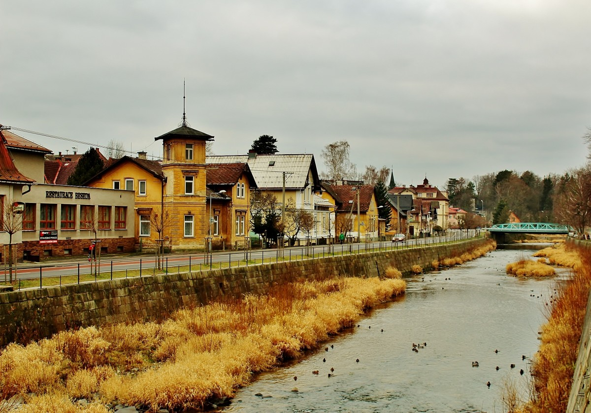 Zdjęcia: Frydlant, Kraj liberecki, Nad rzeką Smedą, CZECHY