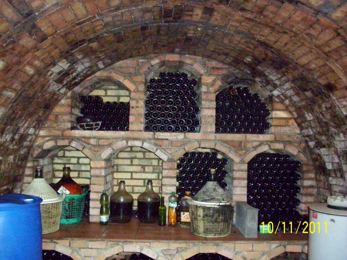 Zdjęcia: Morawy Południowe, Morawy Południowe, Wnętrze piwniczki winnej, CZECHY