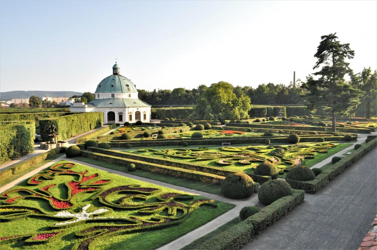 Zdjęcia: Kromieryż, Morawy, Kromieryż, ogród kwiatowy, CZECHY