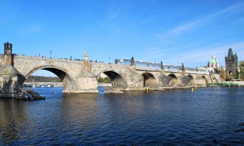 Zdjecie CZECHY / - / Praga-Hradczany / Most Karola z Wełtawy