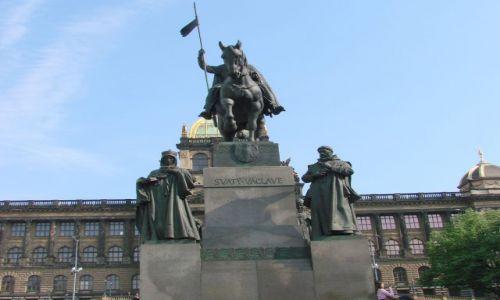 Zdjęcie CZECHY / Praga / Praga / Pomnik św. Wacława