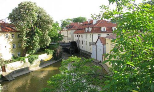 Zdjecie CZECHY / Europa / widok z mostu Karola / Praga