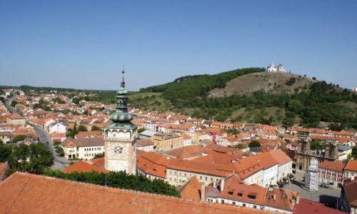 CZECHY / Morawy Południowe / Mikulov / Widok z zamku w Mikulovie