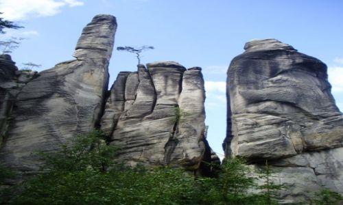 Zdjecie CZECHY / Sudety / Skalne Miasto Adrspach / Adrszpaskie skały