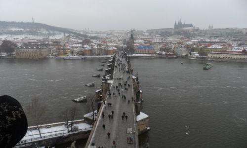 Zdjecie CZECHY / Praga / wieża widokowa / widok na Most K